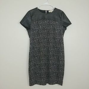 Michael Kors Shift Dress Bee Hive Black 12P #3249